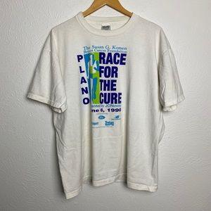 VTG '98 Susan G Komen Breast Cancer Race T-Shirt